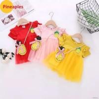 Dress Anak Motif Nanas - Kualitas Import