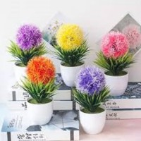 AY Tanaman Bunga Hias Plastik Snapdragon Rumput