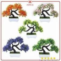 AY Tanaman Bunga Hias Plastik Pinus 4 Cabang