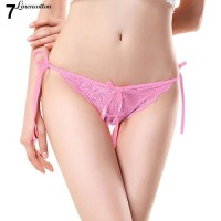dengan Pita Celana Thong Sexy Model Open Crotch