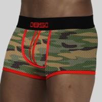 bs82 4Pcs / Lot Celana Boxer Brief Sexy Bahan Mesh untuk Pria