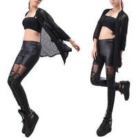 Kulit Imitasi Pakaian Dalam Wanita: Celana Panjang Legging Lace