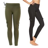 Yoga Celana Panjang Wanita Model High Waist Elastis Ketat Quick Dry