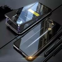 Double Glass CASE Magnetic OPPO A12 Glass Depan Belakang