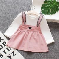 Dress Bayi Anak Perempuan Lucu Gaun Pesta Baju Pakaian Telinga Kelinci