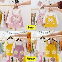 Dress Bayi Anak Perempuan Lucu Gaun Pesta Baju Overall - Import