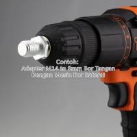 Promo!! Adapter Backing Plate M14 Male ke 8mm Bor Tangan