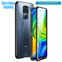 Double Glass case Magnet Xiaomi Redmi Note 9 Magnetic Front+Back