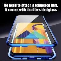 Double Glass CASE Magnetic SAMSUNG Galaxy A20s Glass Depan Belakang