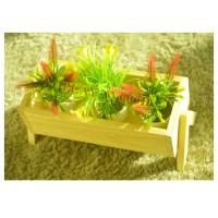 jual pot kayu dekorasi taman tempat bunga/kaktus - kab