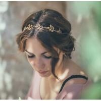 Headpiece Aksesoris rambut hiasan rambut jepit daun thumbnail