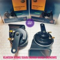 Klakson keong / Midnight Black Twin Tone Horn Set 12V 110dB
