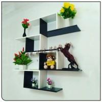 jual rak dinding kayu gantung minimalis hiasan ruangan