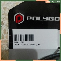 Cable Lock Ammo. Kunci Kabel Polygon. Gembok.
