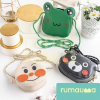 RUMAUMA Pocket Tas Mini Selempang Anak Beruang Kodok Anpanman Totebag - Kodok Hijau thumbnail