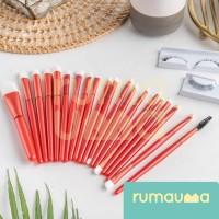 RUMAUMA Brush Makeup 20 PCS IN 1 - Kuas Bulu Lembut Set Lengkap Murah thumbnail