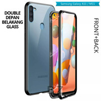 Double Glass case Magnet SAMSUNG Galaxy M11 2020 Magnetic Front+Back