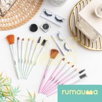 RUMAUMA Brush Shading Makeup 7 PCS - Kuas Set Serbaguna Murah Limited - Merah Muda thumbnail