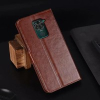 Xiaomi Redmi Note 9 Flip Case Leather Dompet hp kulit lipat restro