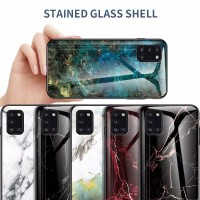 CASE SAMSUNG A31 Tempered Glass Soft Silicone Frame Hard A92 2020