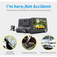 Car DVR Mobil Dual Camera 4 Inch Full HD Wide Angle 170 Degree dengan