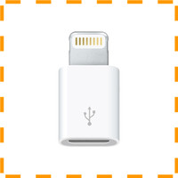 NEW VD Apple Lightning to Micro USB Adapter (ORIGINAL) - White