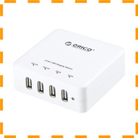 NEW VD Orico USB Wall Travel Charger Hub 4 Port - DCE-4U - White