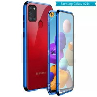 Double Glass case Magnet SAMSUNG Galaxy A21s Magnetic Front+Back