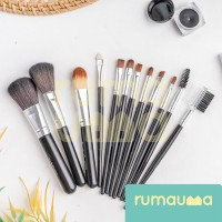 RUMAUMA 12 Pcs Brush Makeup Set Kuas Foundation Contour Peralatan Unik thumbnail