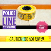 "Police Line Barricade Tape 3"" x 500 Mtr. CAUTION DO NOT ENTER"