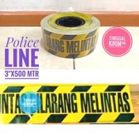 "Police Line Barricade Tape 3"" x 500 mtr. DILARANG MELINTAS"
