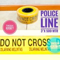 "Police Line Barricade Tape 3"" x 500 mtr.DO NOT CROSS DILARANG MELINTAS"