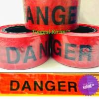 "Police line barricade tape tulisan DANGER ukuran 3"" x 500 meter"