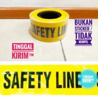"""Police Line Barricade Tape tulisan SAFETY LINE 3"""" x 300 Meter"""