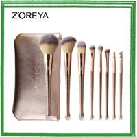 NEW ARRIVAL Zoreya Brush Make Up 8 Set dengan Pouch - Golden HOT SALE