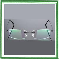 Xinder Frame Kacamata Frameless Titanium Ultra Light - 858 - Black