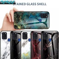 CASE SAMSUNG Galaxy A21s Tempered Glass Soft Silicone Frame Hard