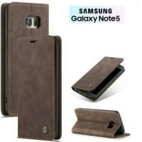 SAMSUNG Galaxy Note 5 Flip Case Caseme Dompet hp kulit lipat restro
