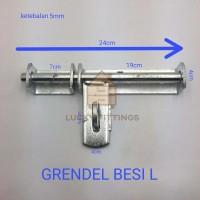 Jual Grendel Pintu Besi L Besar Panjang Kunci Pagar