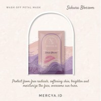 Wash Off Petal Mask Sakura Blossom 20gr by @mercya.id
