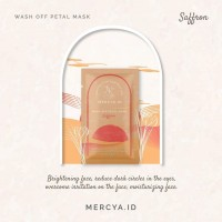 Wash Off Petals Mask Saffron 20gr by @mercya.id