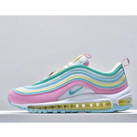 air max 97 pink and blue yellow