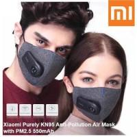 Xiaomi Masker purely mi plough mask anti polisi air mask with fan
