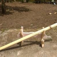 Pedang Tongkat Ukir Cream