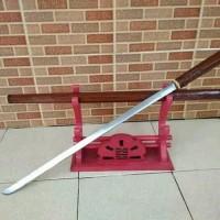 Pedang Tongkat Ukir Coklat