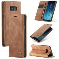 SAMSUNG Galaxy S8 Flip Case Caseme Dompet hp kulit lipat restro S8