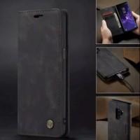 SAMSUNG Galaxy A6 plus Flip Case Caseme Dompet hp kulit lipat restro