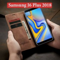 SAMSUNG Galaxy J6 plus Flip Case Caseme Dompet hp kulit lipat restro