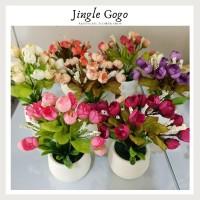 jual pot mini mawar kuncup egg rose telur dekorasi rumah