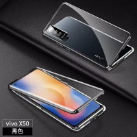 Double Glass case Magnet VIVO X50 Magnetic Front+Back x50